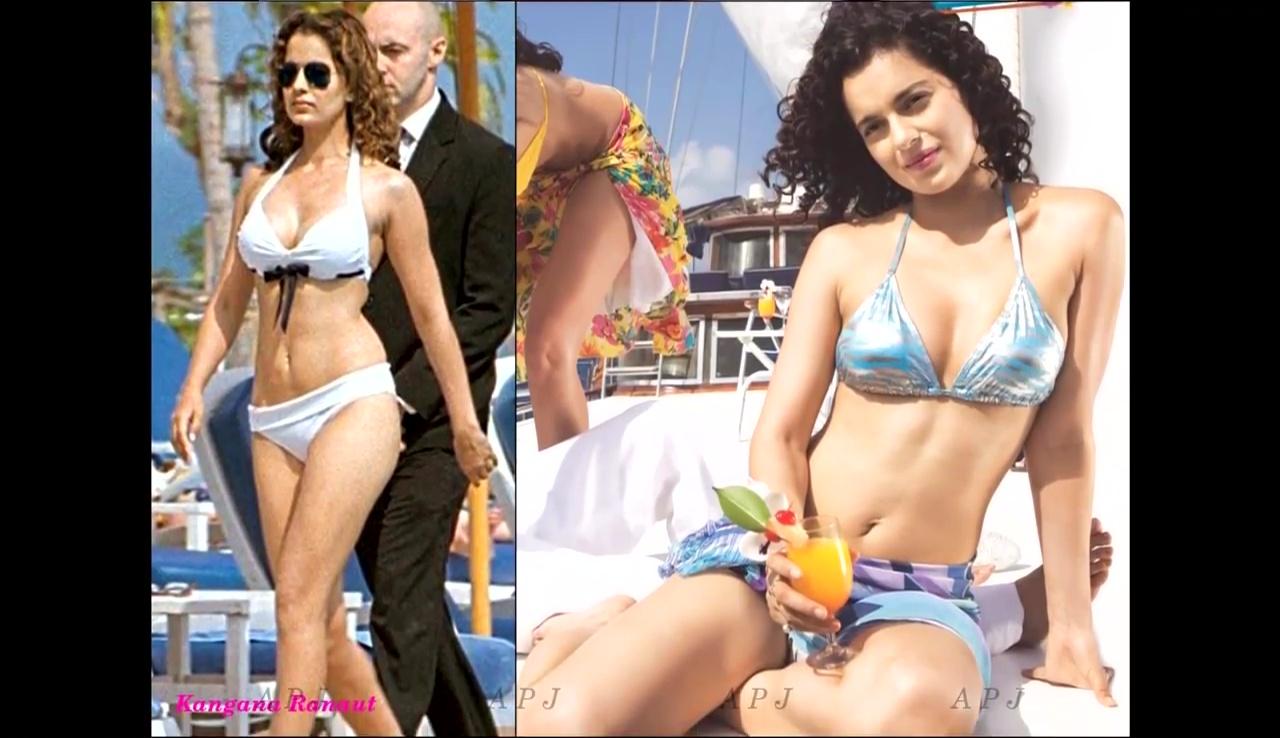 Kangana Ranaut Bollywood Actress Hot Bikini Photo 16