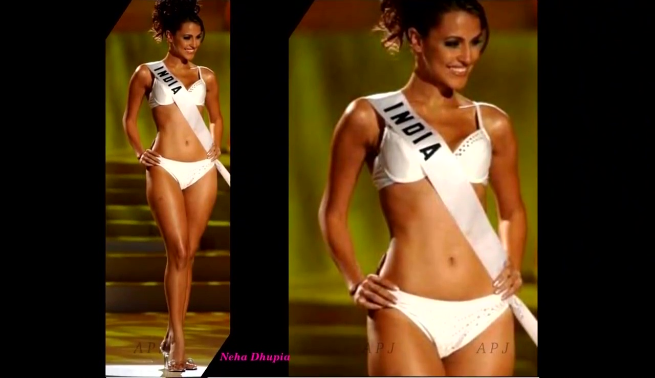 Neha Dhupia Bollywood Actress Hot swimsuit Photo 27