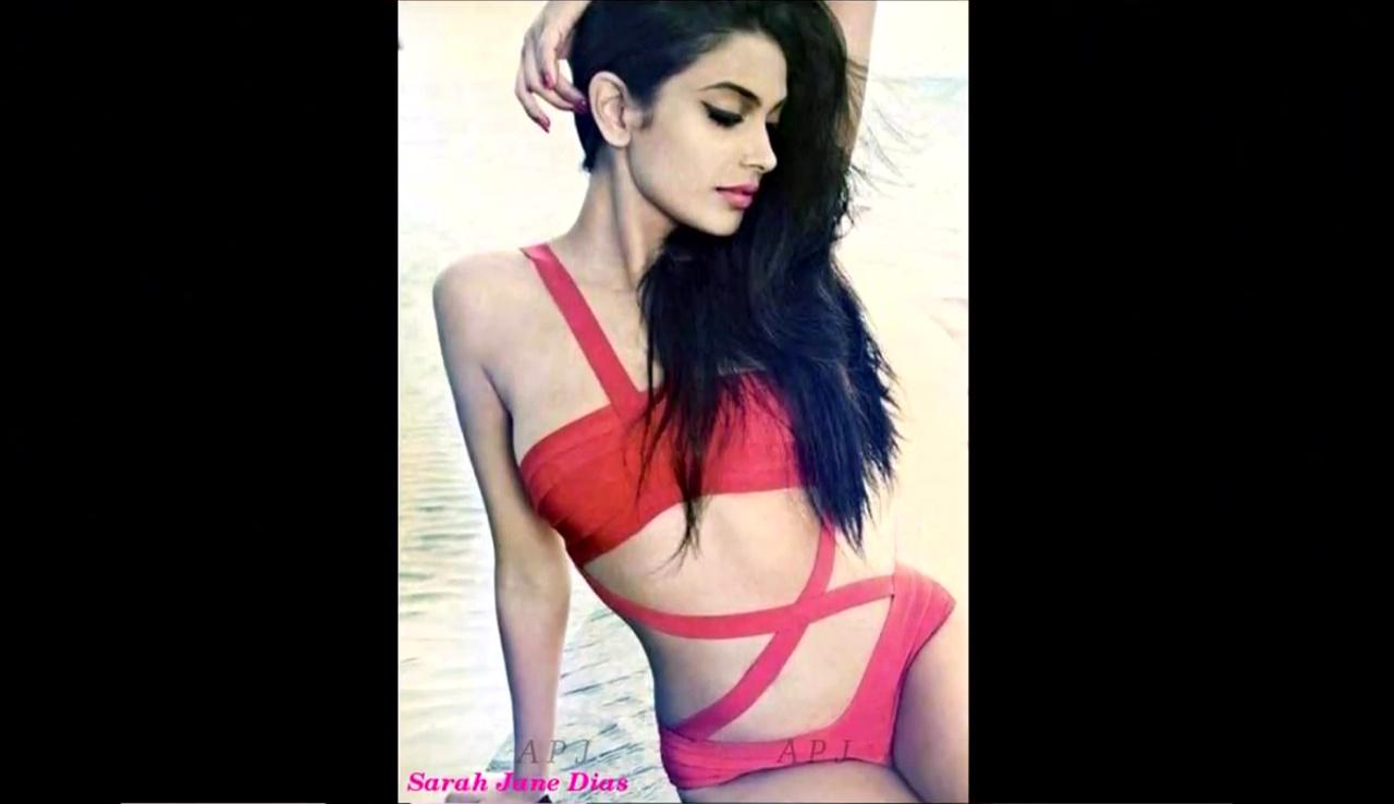 Sarah jane dias Bollywood Actress Hot swimsuit Pic 37