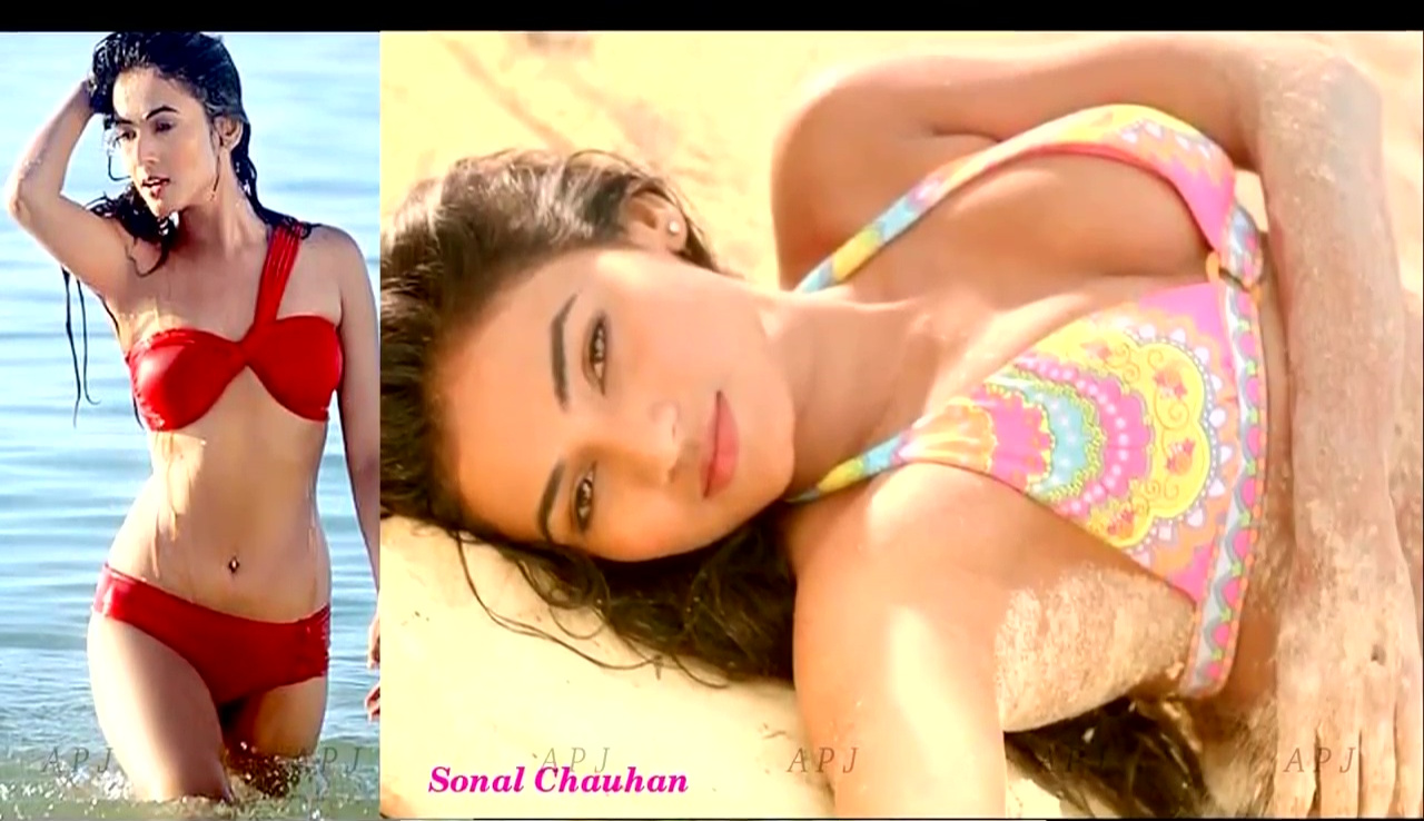 Sonal chauhan Bollywood Actress Hot two piece Pic 45