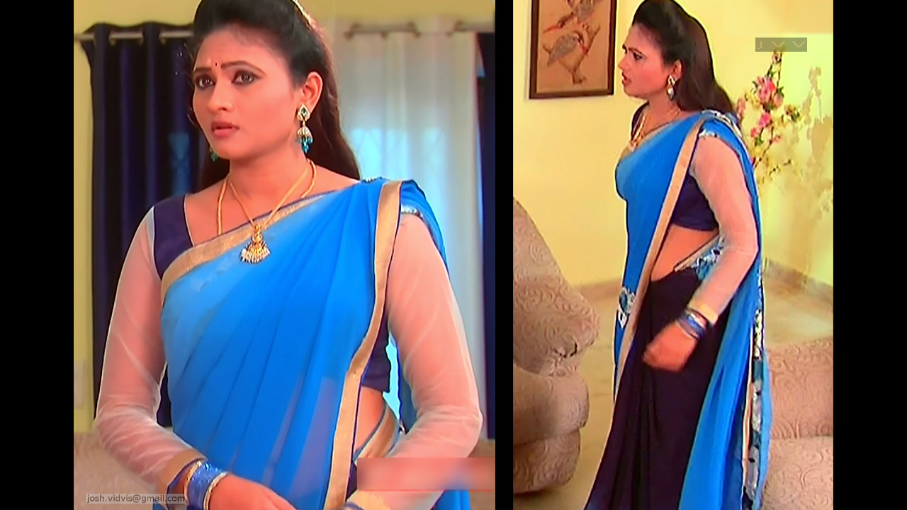 Telugu TV Actress_SVSC_05_Hot Saree Pics