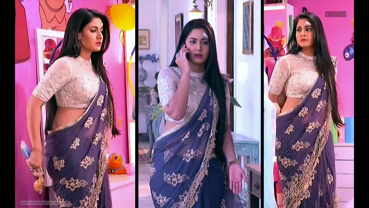 Aditi Rathore_Hindi TV Actress_02_Hot Saree navel