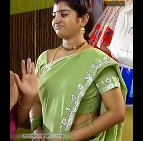 Mahalakshmi_Tamil TV Actress06_Hot saree caps