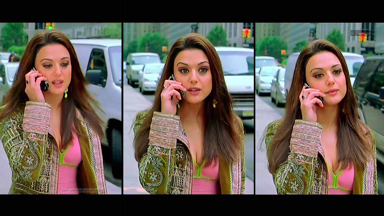 Preity Zinta_KANK_02_ScrCap Scene Cleavage