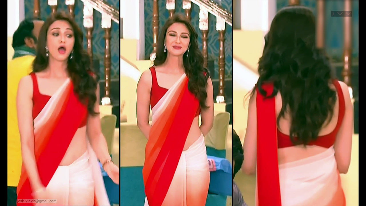 Saumya Tandon_Hindi TV Actress_08_Hot Saree navel Pics