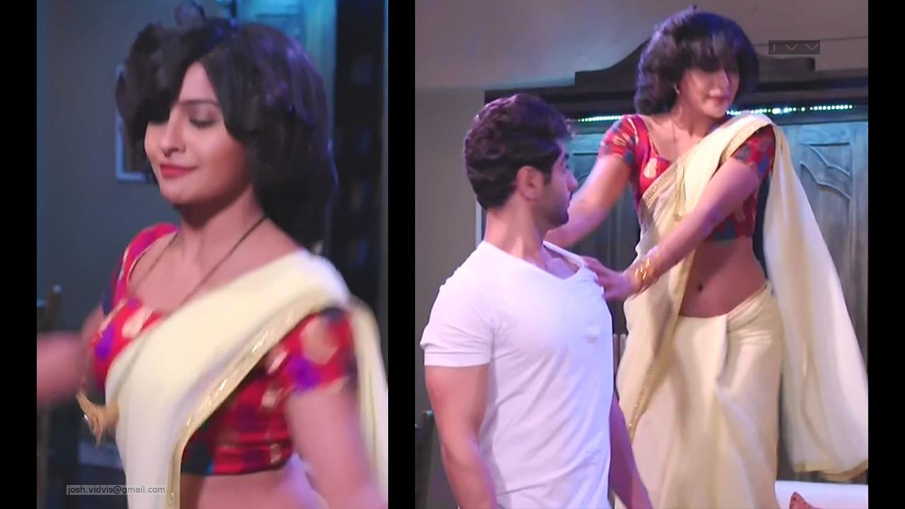 Yukti Kapoor_Hindi TV Celeb_03_Hot Saree navel photo