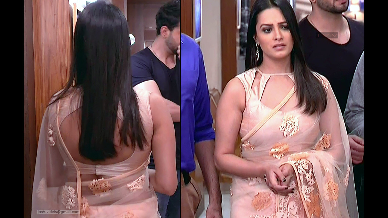 Anita Hassanandani_Hindi TV Actress_01_Transparent Saree Photo