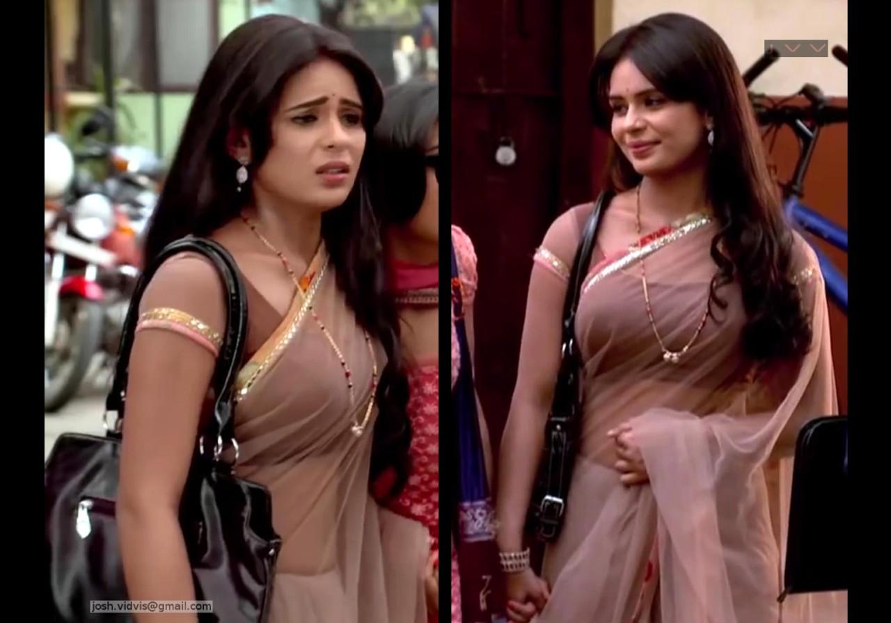 Sonal Vengurlekar_TV Act-YehVR_07_Transparent Sari Pics