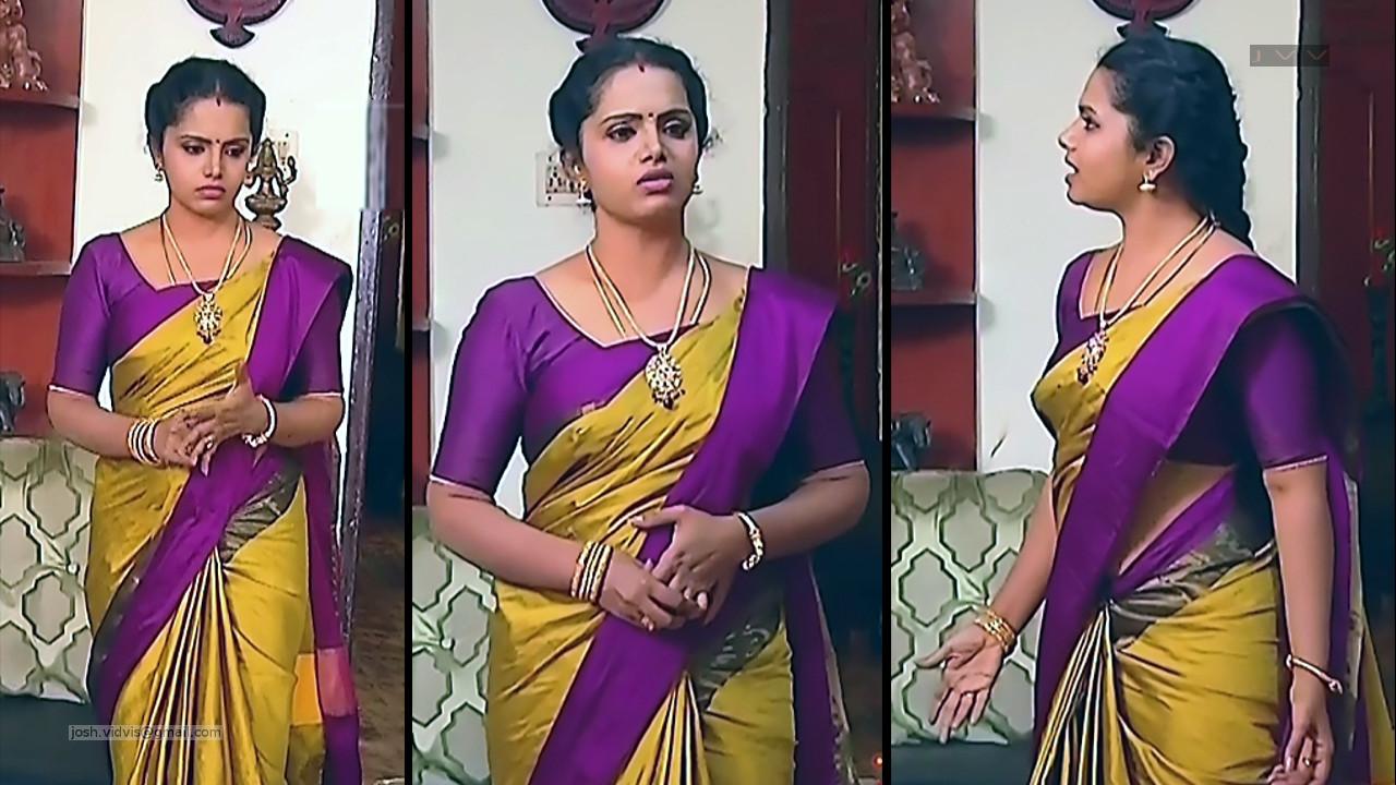 Sudha_Tamil TV Actress_01_Saree Photos