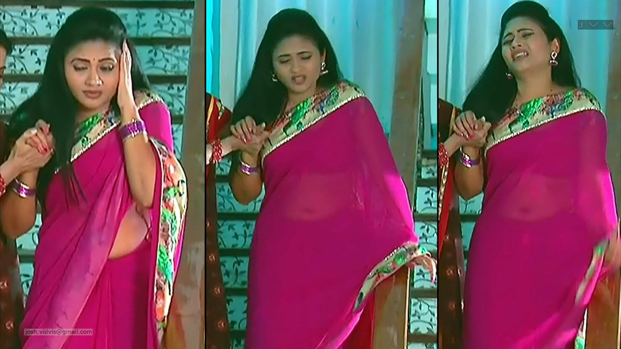 Telugu TV Actress_SVSC-S2_02_Hot Saree Pics