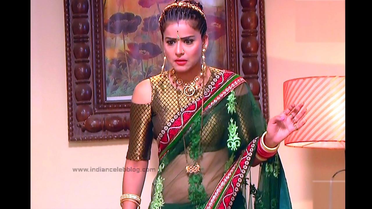 Ginnie Virdi_Hindi TV Actress_01_Hot backless saree navel pics