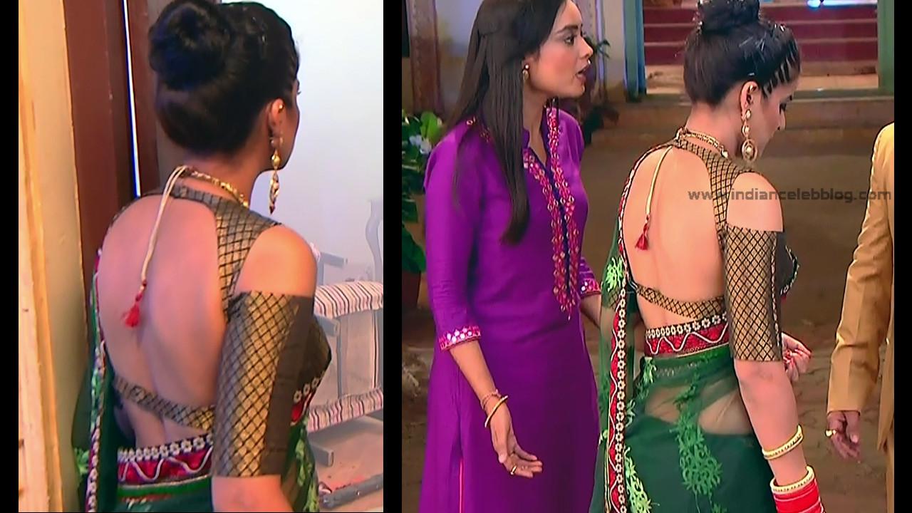 Ginnie Virdi_Hindi TV Actress_02_Hot backless saree navel pics