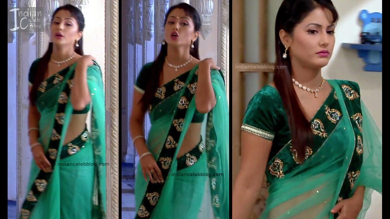 HinaKhan_Hindi TV Actress YRKKH S1_14_Hot Saree navel pics