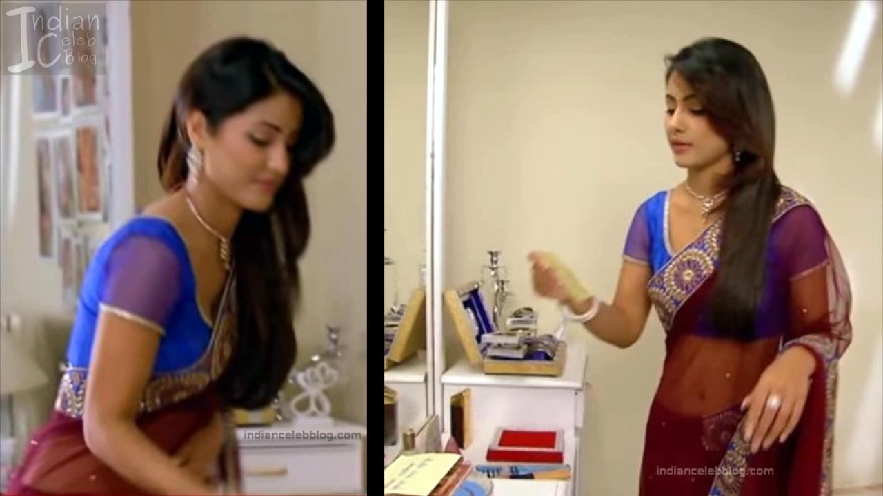HinaKhan_Hindi TV Actress YRKKH S1_16_Hot Saree navel pics