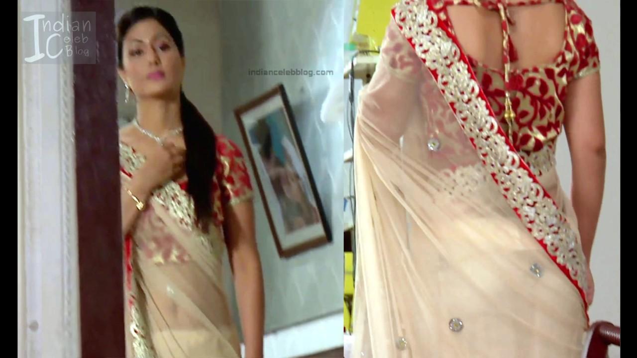 HinaKhan_Hindi TV Actress YRKKH S1_18_Hot Saree navel pics