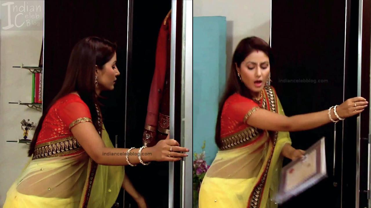 HinaKhan_Hindi TV Actress YRKKH S1_7_Hot Saree navel pics
