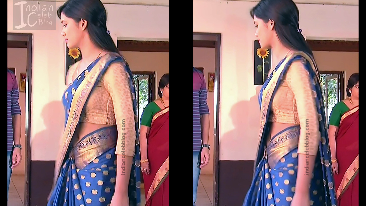 Telugu TV Actress ETV AbhiS_6_Hot Saree navel pics