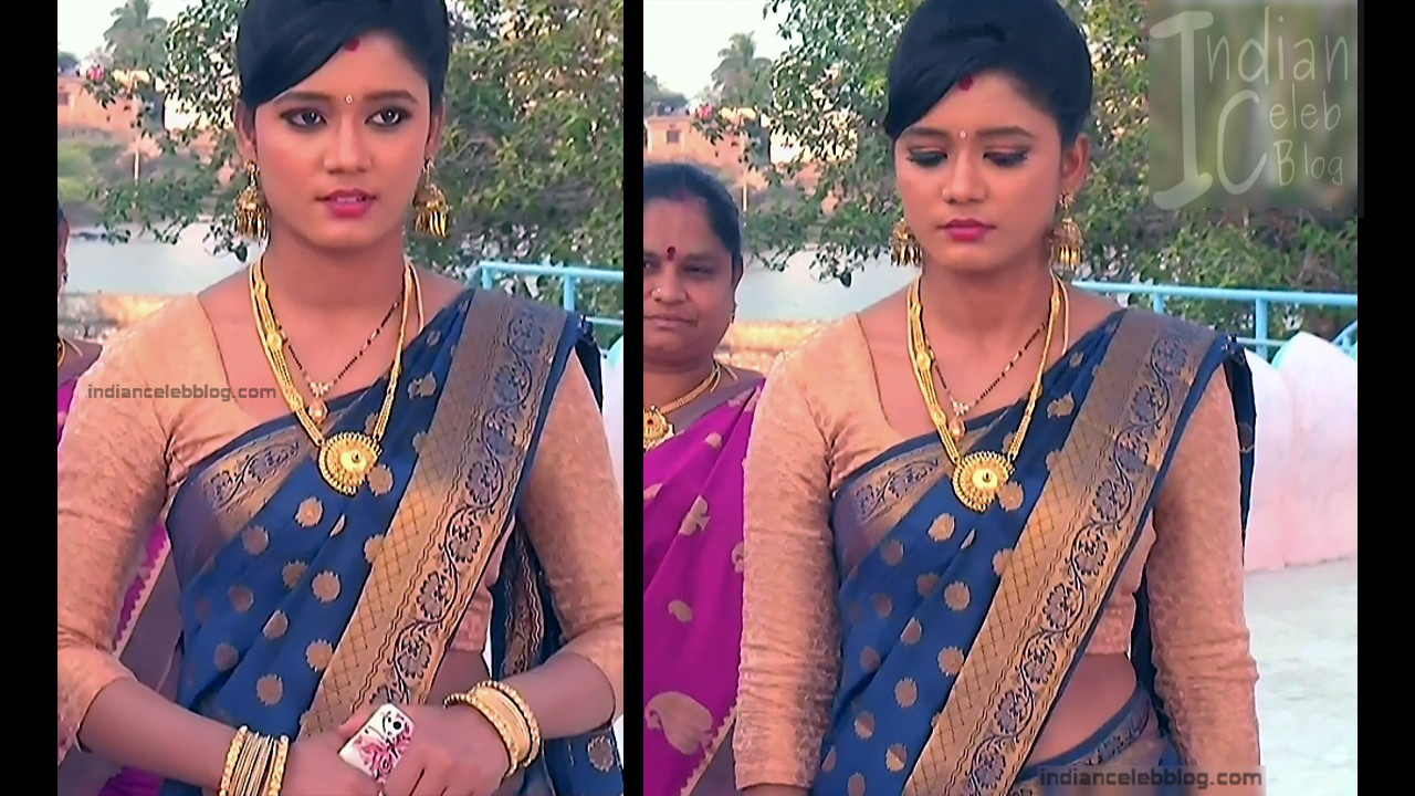 Telugu TV Actress ETV AbhiS_8_Hot Saree navel pics