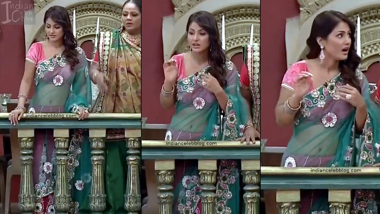 Hina Khan_Hindi TV Actress_10_Hot Sari photos