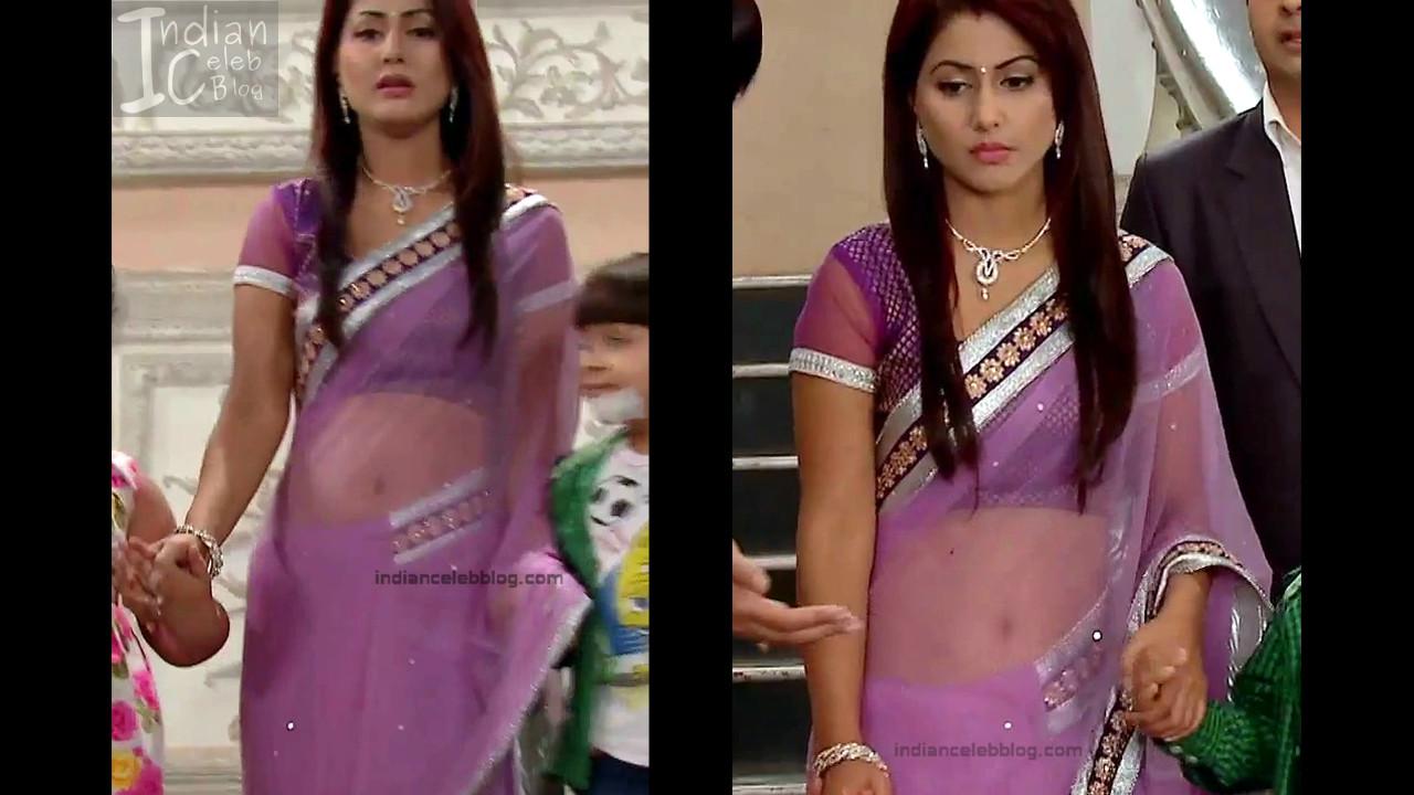 Hina Khan_Hindi TV Actress_15_Hot Sari photos