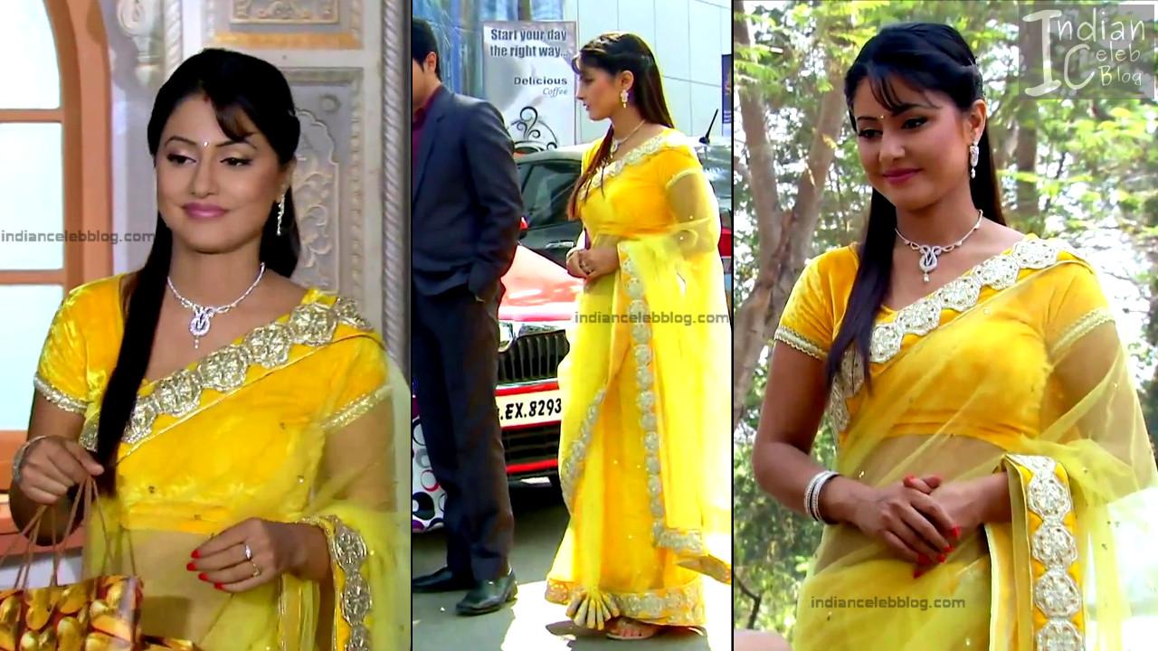 Hina Khan_Hindi TV Actress_2_Hot Sari photos