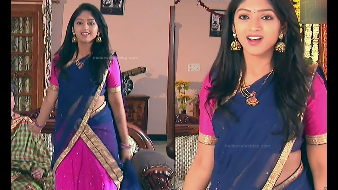 Mythili Telugu TV Actress Sundarakanda S1_1 Hot Saree Pics