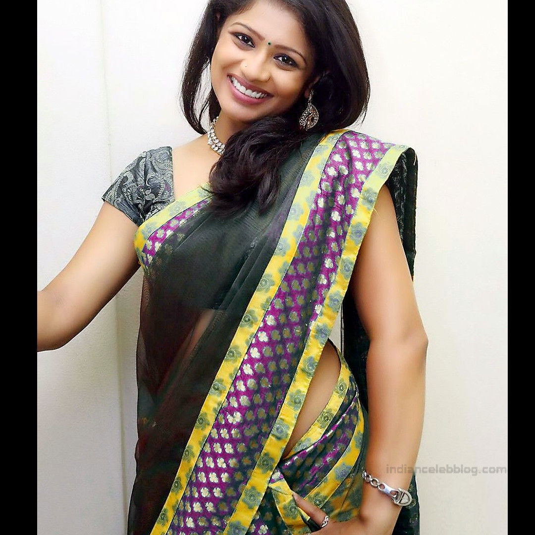 Anusri Telugu TV Actress Saree Photoshoot_4