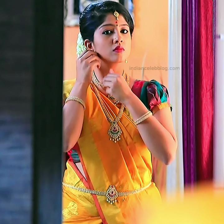 Nithya Kannada TV Actress Kinnari S1 1 Hot Saree Pics