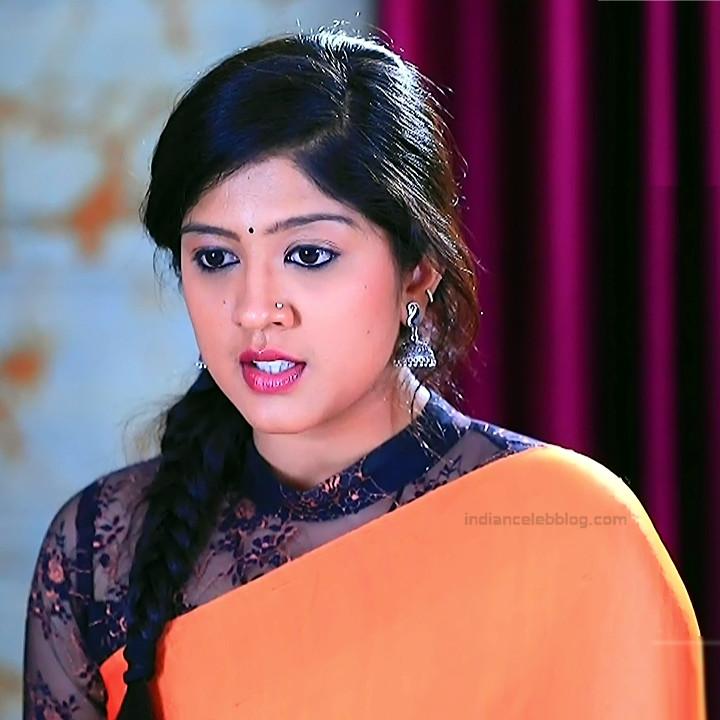 Nithya Kannada TV Actress Kinnari S1 10 Hot Saree Pics