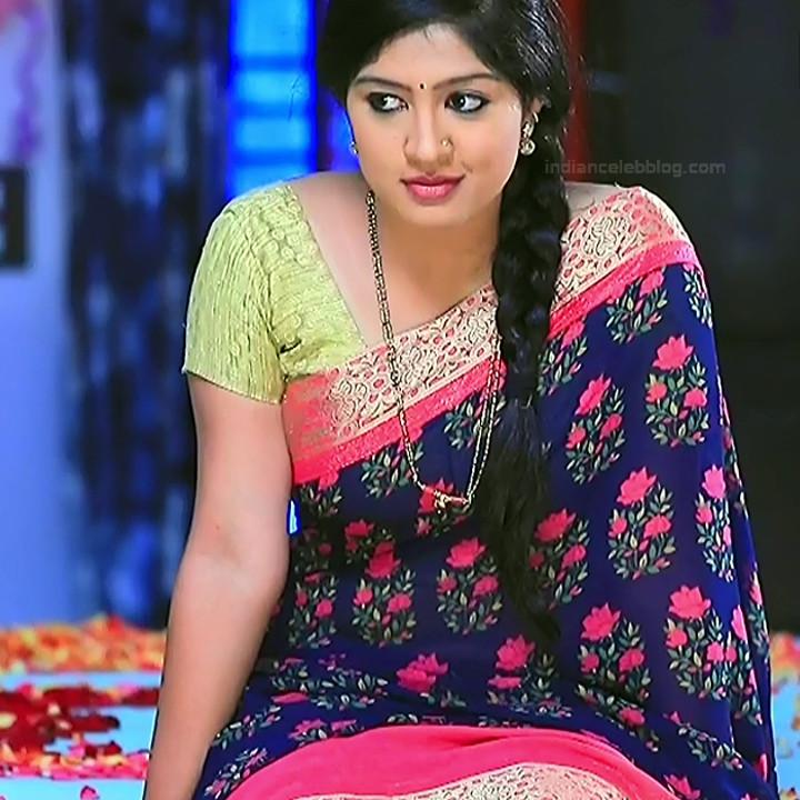 Nithya Kannada TV Actress Kinnari S1 13 Hot Saree Pics