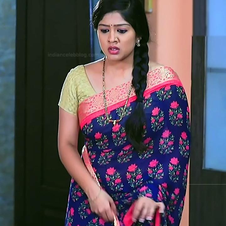 Nithya Kannada TV Actress Kinnari S1 14 Hot Saree Pics