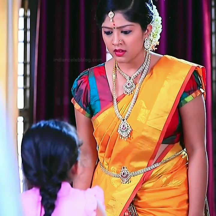 Nithya Kannada TV Actress Kinnari S1 2 Hot Saree Pics