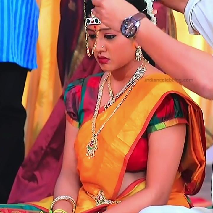 Nithya Kannada TV Actress Kinnari S1 3 Hot Saree Pics