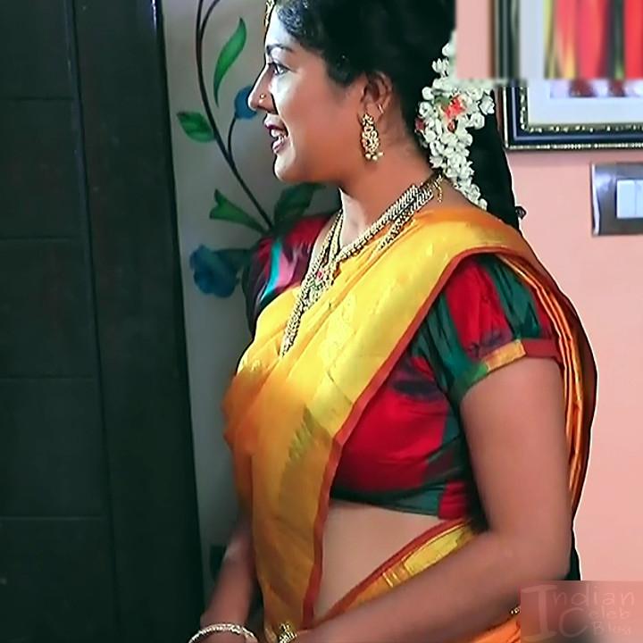 Nithya Kannada TV Actress Kinnari S1 6 Hot Saree Pics