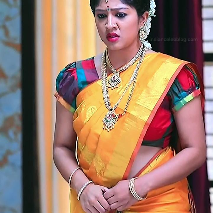 Nithya Kannada TV Actress Kinnari S1 7 Hot Saree Pics