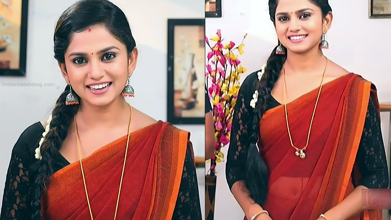 Raksha Gowda Kannada TV serial actress PutMS1 1 Saree Photo