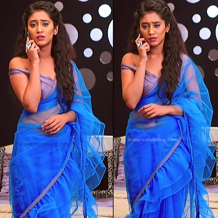 Shivangi Joshi Hindi TV Actress YehRKKH-S2 hot saree photos_13