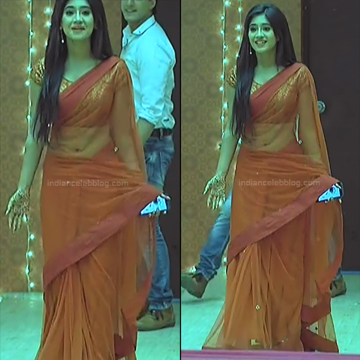 Shivangi Joshi Hindi TV Actress YehRKKH-S2 hot saree photos_3