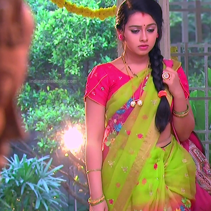 Aishwarya Meghana Telugu TV actress AgniSS2 7 hot sari pics