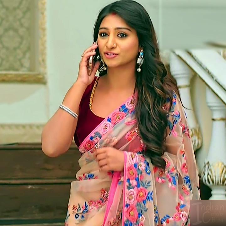 Mohena singh hindi serial actress Yeh RKKHS3 8 hot saree pics