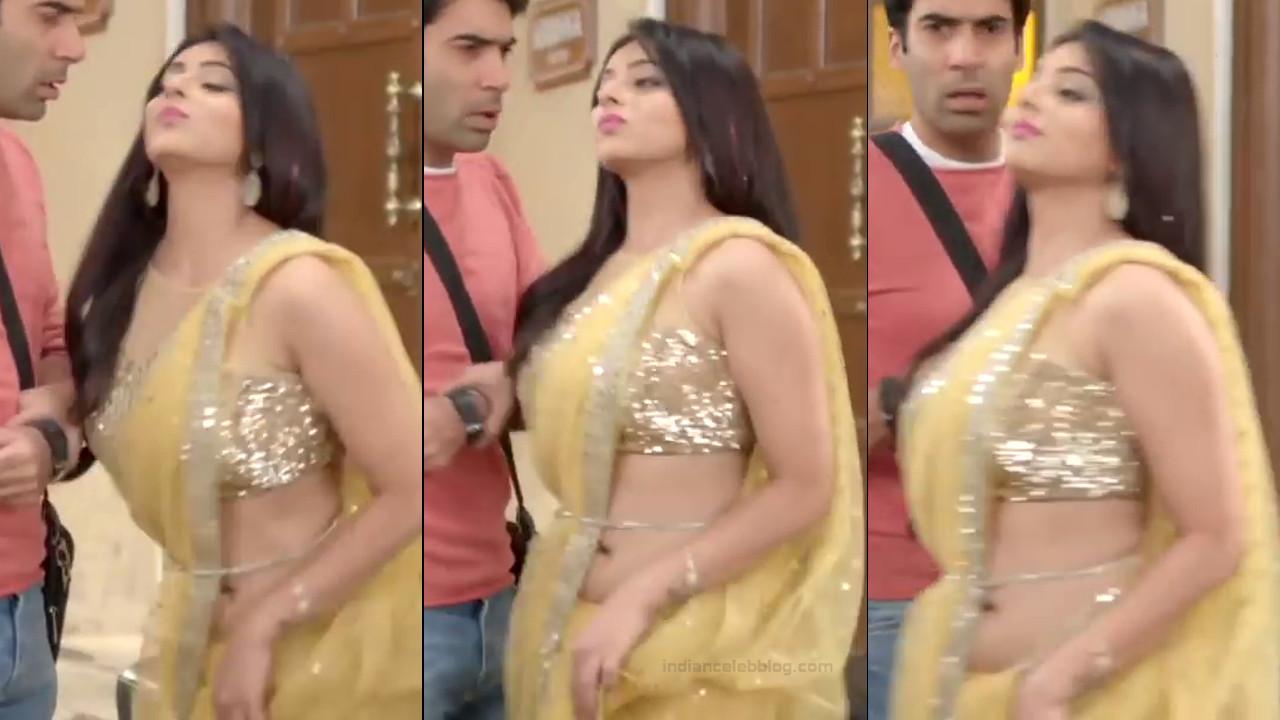 Monica Castelino Hindi TV actress CompS1 14 hot saree pics
