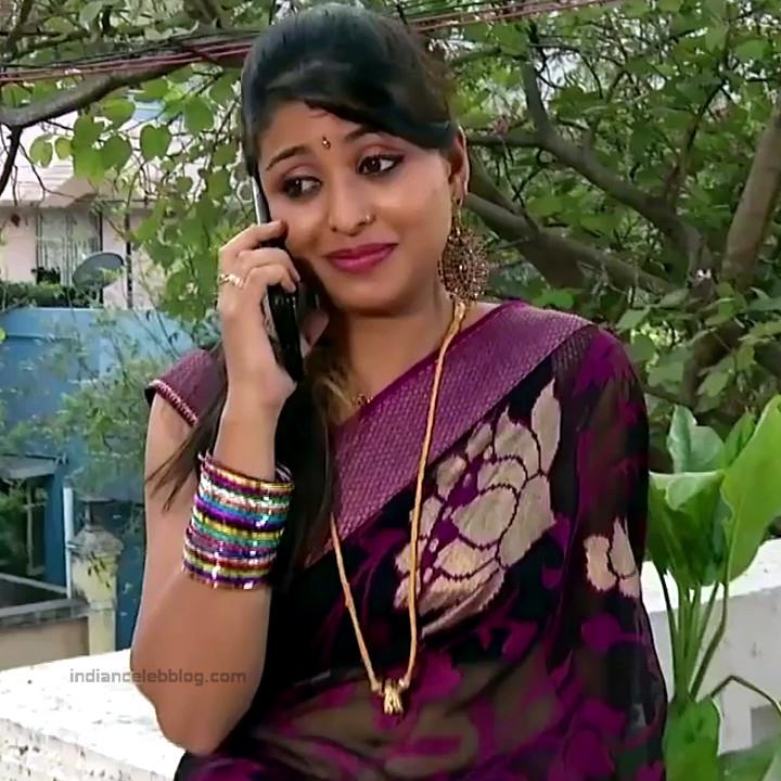 Nagashree Tamil TV Actress Chandralekha S1 5 hot saree photo