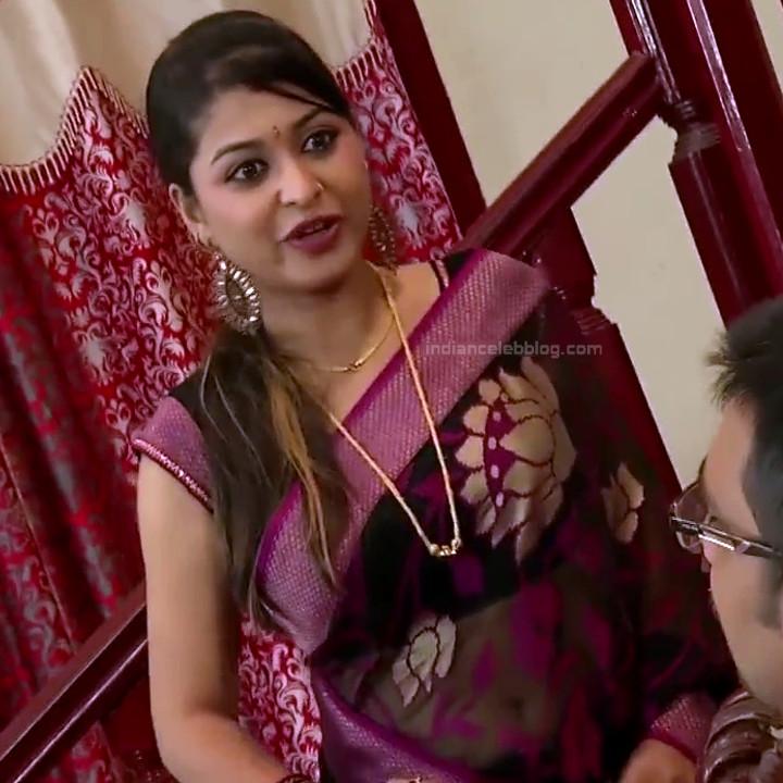 Nagashree Tamil TV Actress Chandralekha S1 9 hot saree photo