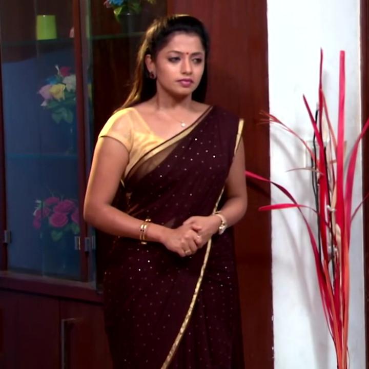 Navya Swamy Telugu TV Actress NaaPMS1 10 hot sari photos