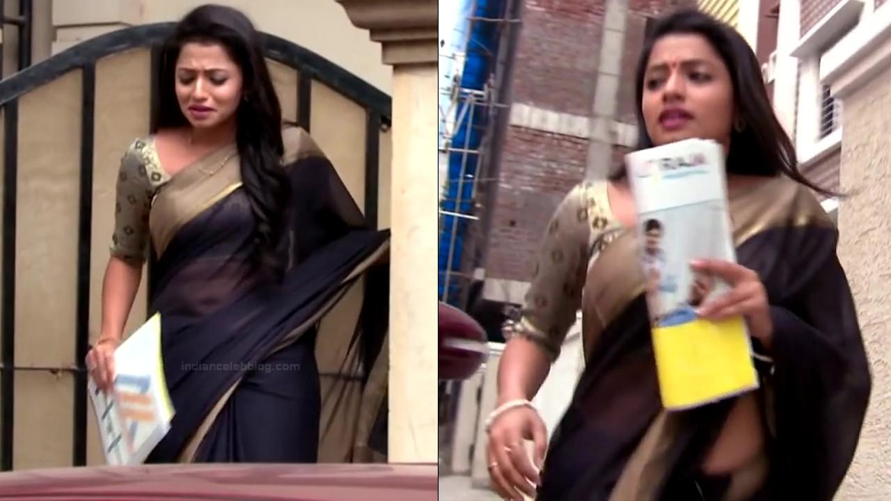 Navya Swamy Telugu TV Actress NaaPMS1 5 hot sari photos