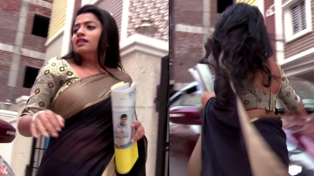 Navya Swamy Telugu TV Actress NaaPMS1 6 hot sari photos