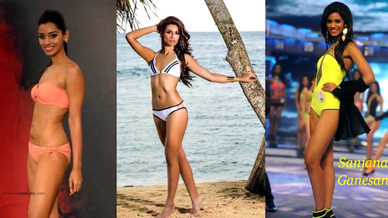 Sanjana Ganesan Miss India 2014 Swimsuit round Pics