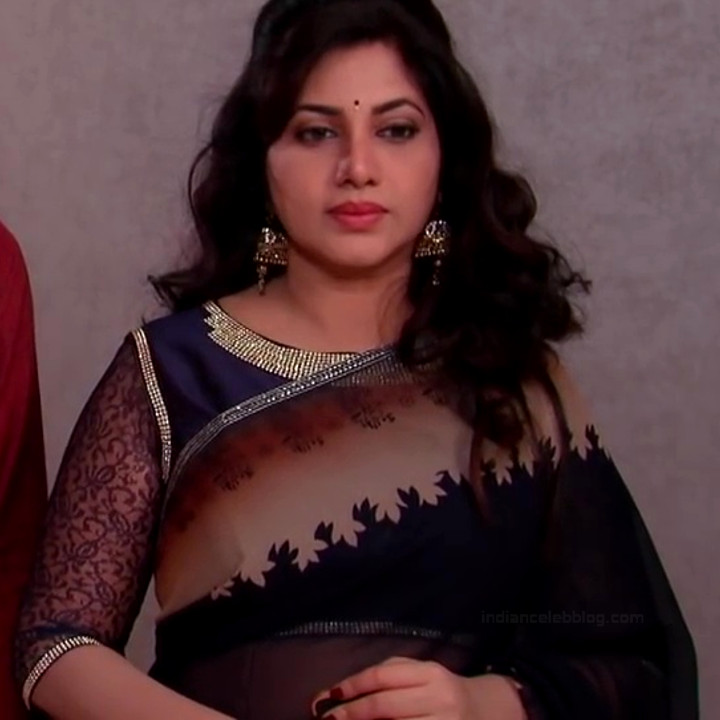 Telugu TV serial mature actress Comp2 6 hot saree photo