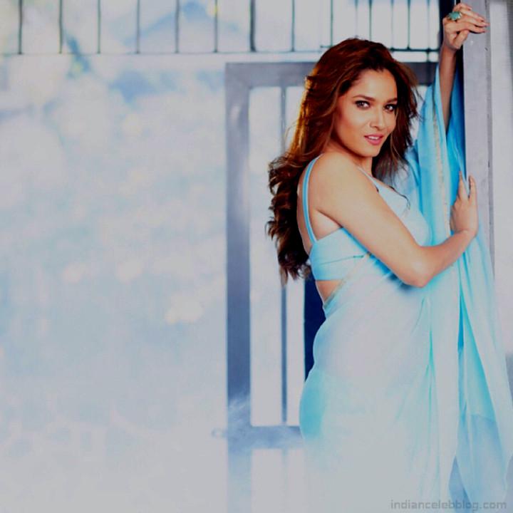 Ankita Lokhande Hindi TV actress CelebTS1 14 hot saree pics