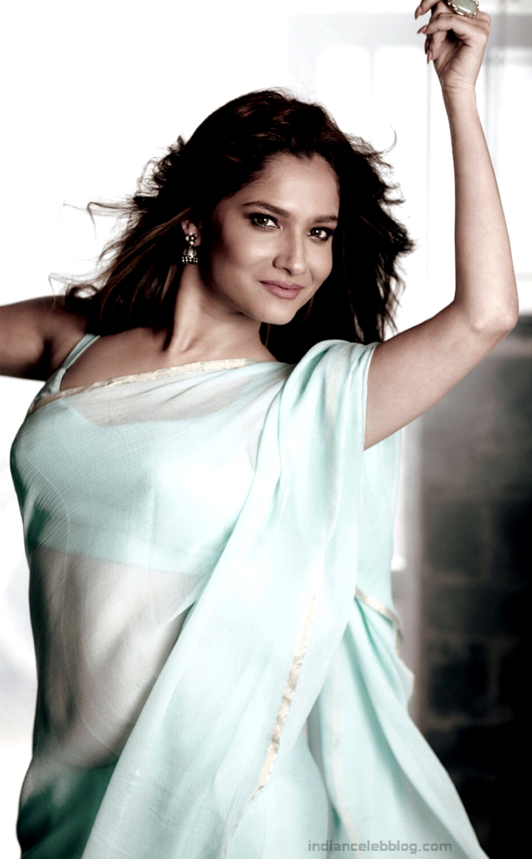Ankita Lokhande Hindi TV actress CelebTS1 15 hot saree pics